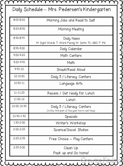 Classroom Daily Schedule Template Beautiful High School Class Schedule Template Bell Schedule and