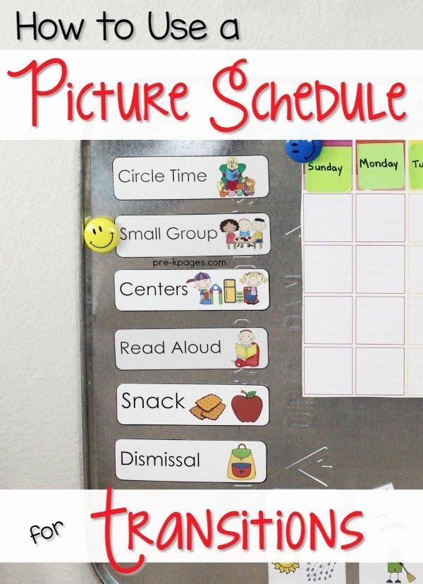 Classroom Daily Schedule Template Best Of Picture Schedule Cards for Preschool and Kindergarten