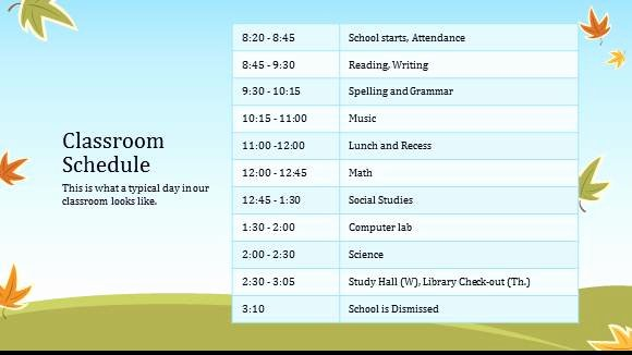 Classroom Daily Schedule Template Fresh High School Schedule Template 7 Best Images Of Blank