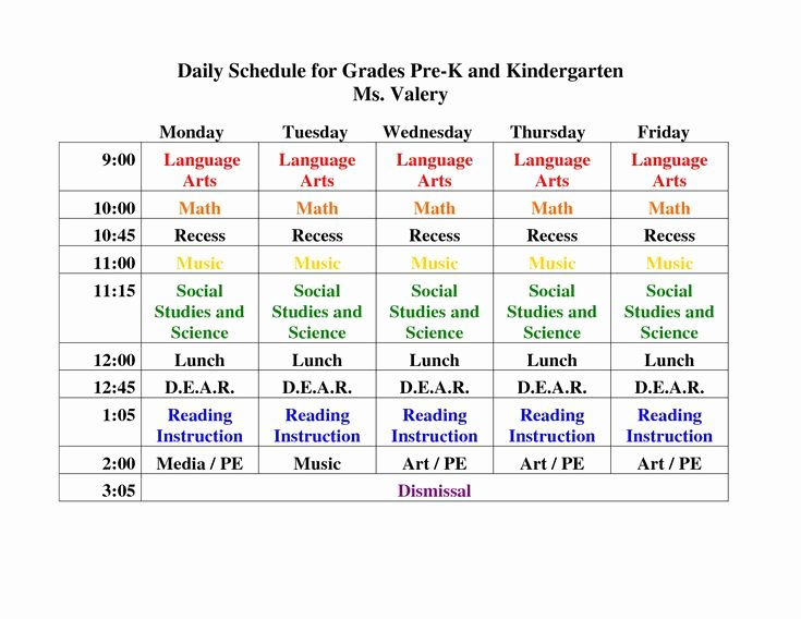 Classroom Daily Schedule Template Inspirational 15 Best Images About Full Day K On Pinterest