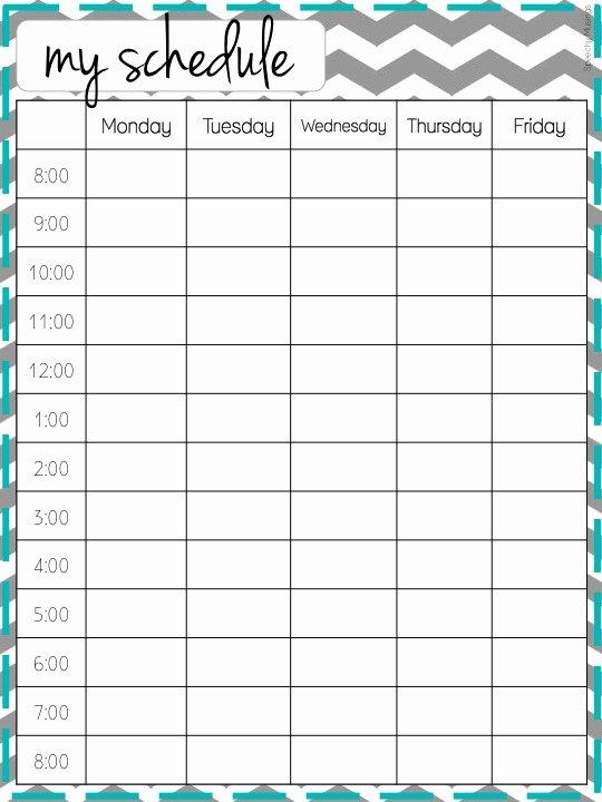 Classroom Daily Schedule Template New Cute Class Schedule Template