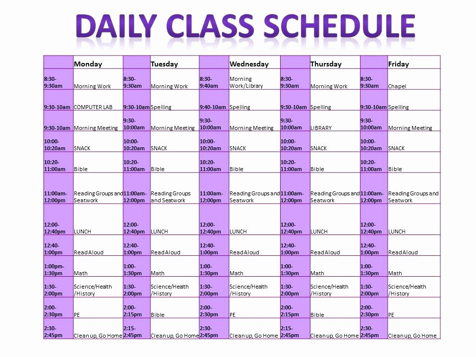 Classroom Daily Schedule Template Unique 2nd Grade Superstars Daily Class Schedule