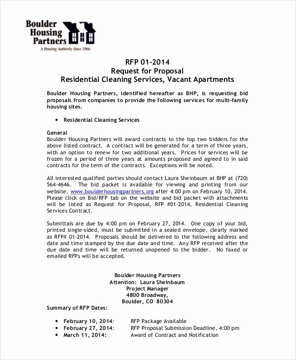 Cleaning Bid Proposal Template Inspirational Business Proposal Template 28 Free Word Pdf Psd