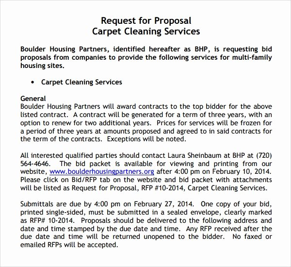 Cleaning Bid Proposal Template New 13 Cleaning Proposal Templates – Pdf Word Apple Pages