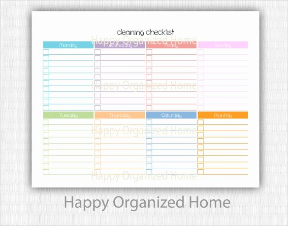 Cleaning Checklist Template Word Best Of Cleaning Plan Template Hola Klonec