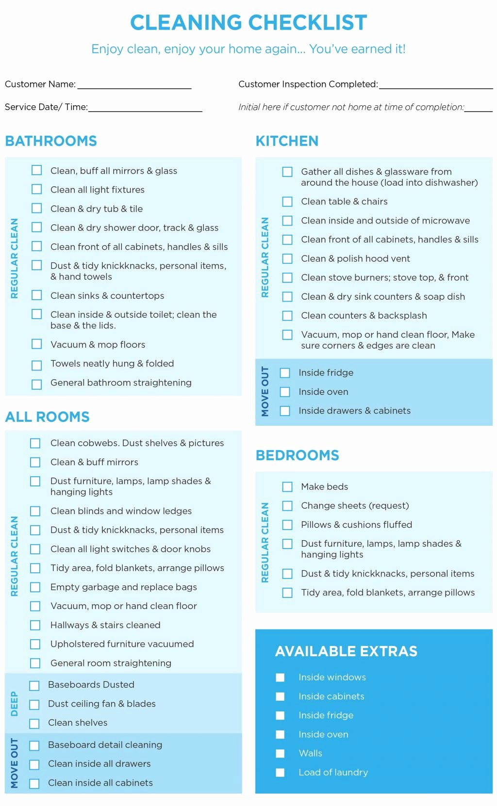 Cleaning Checklist Template Word Fresh 40 Helpful House Cleaning Checklists for You