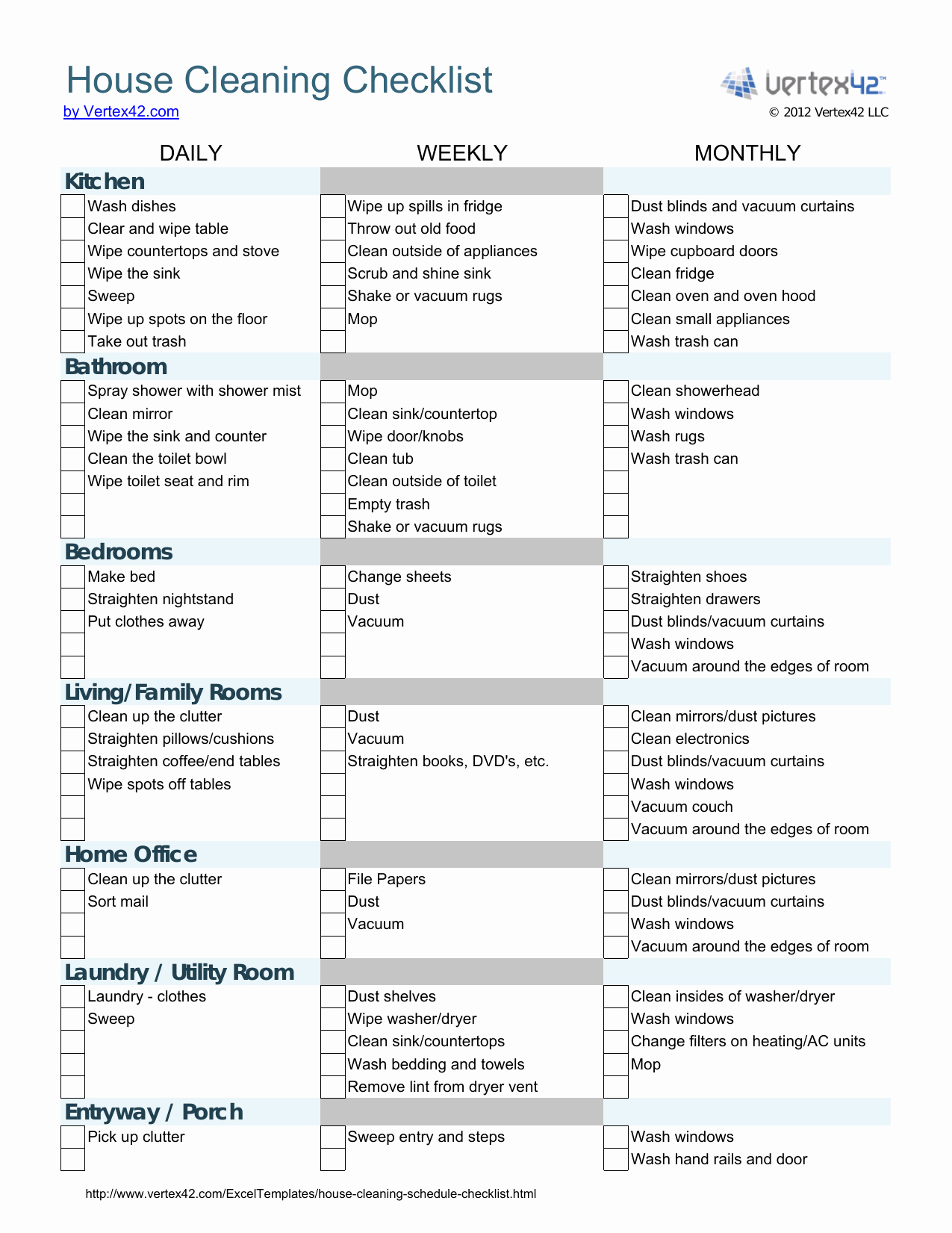 Cleaning Checklist Template Word Fresh Download House Cleaning Checklist Template Excel
