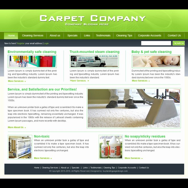 Cleaning Company Website Template Beautiful Carpet Cleaning Pany Website Template Design Psd for Sale