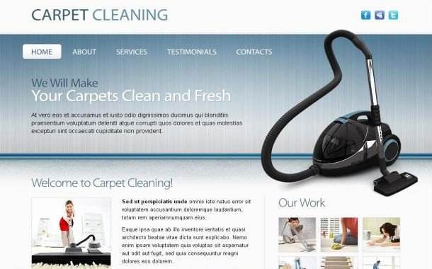 Cleaning Company Website Template Best Of Free Cleaning Pany Blue Website Template