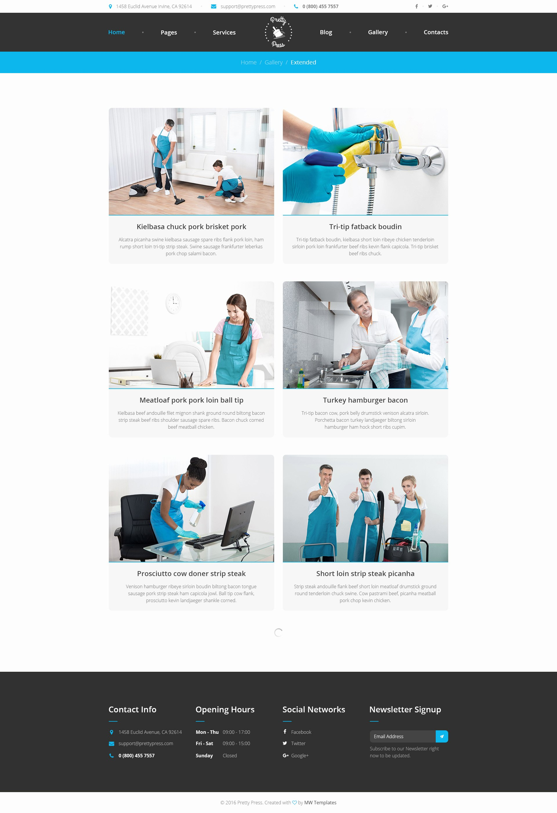 Cleaning Company Website Template Best Of Prettypress – Cleaning Service HTML Template