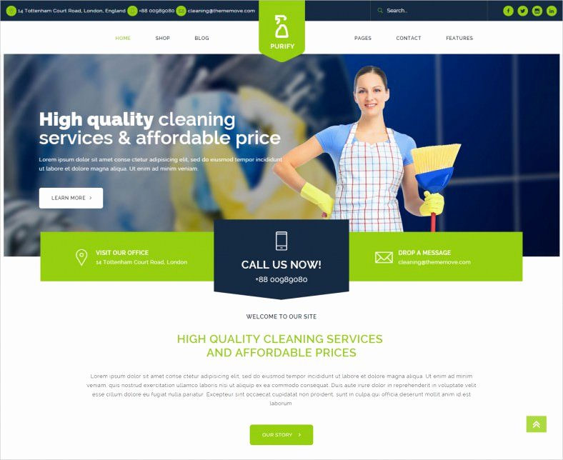 Cleaning Company Website Template Fresh 16 Cleaning Pany Wordpress Templates themes Free