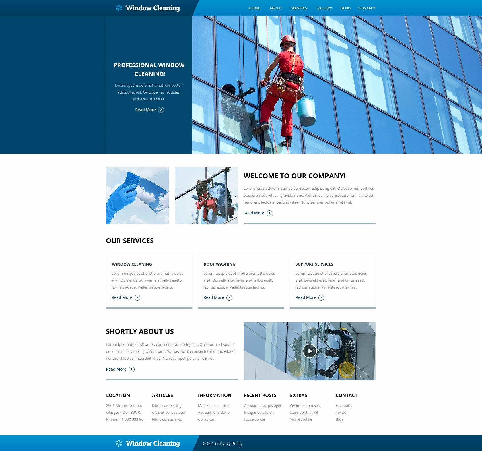 Cleaning Company Website Template Fresh Window Cleaning Responsive Website Template