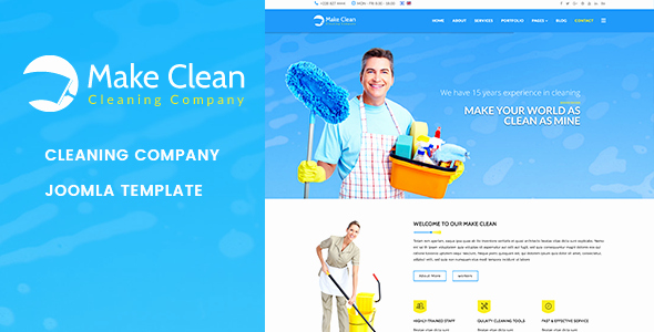 Cleaning Company Website Template Lovely Make Clean