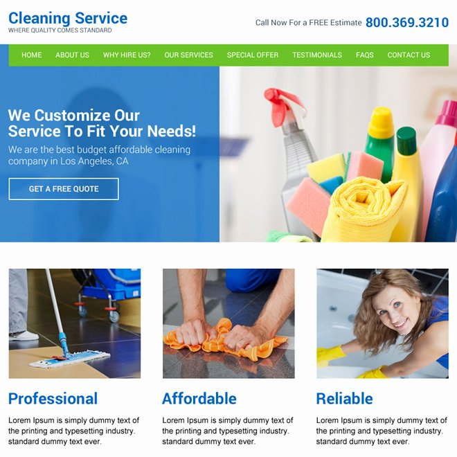 Cleaning Company Website Template Luxury Effective Cleaning Services Website Template to