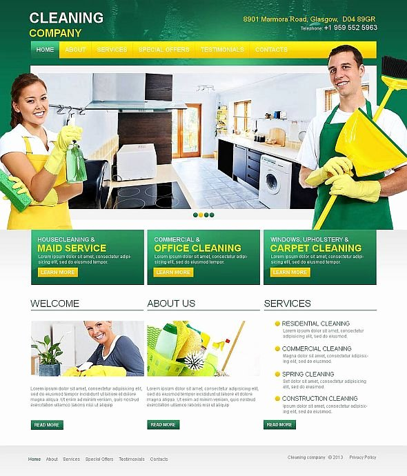 Cleaning Company Website Template Unique 10 attractive Services Website Templates tonytemplates Blog