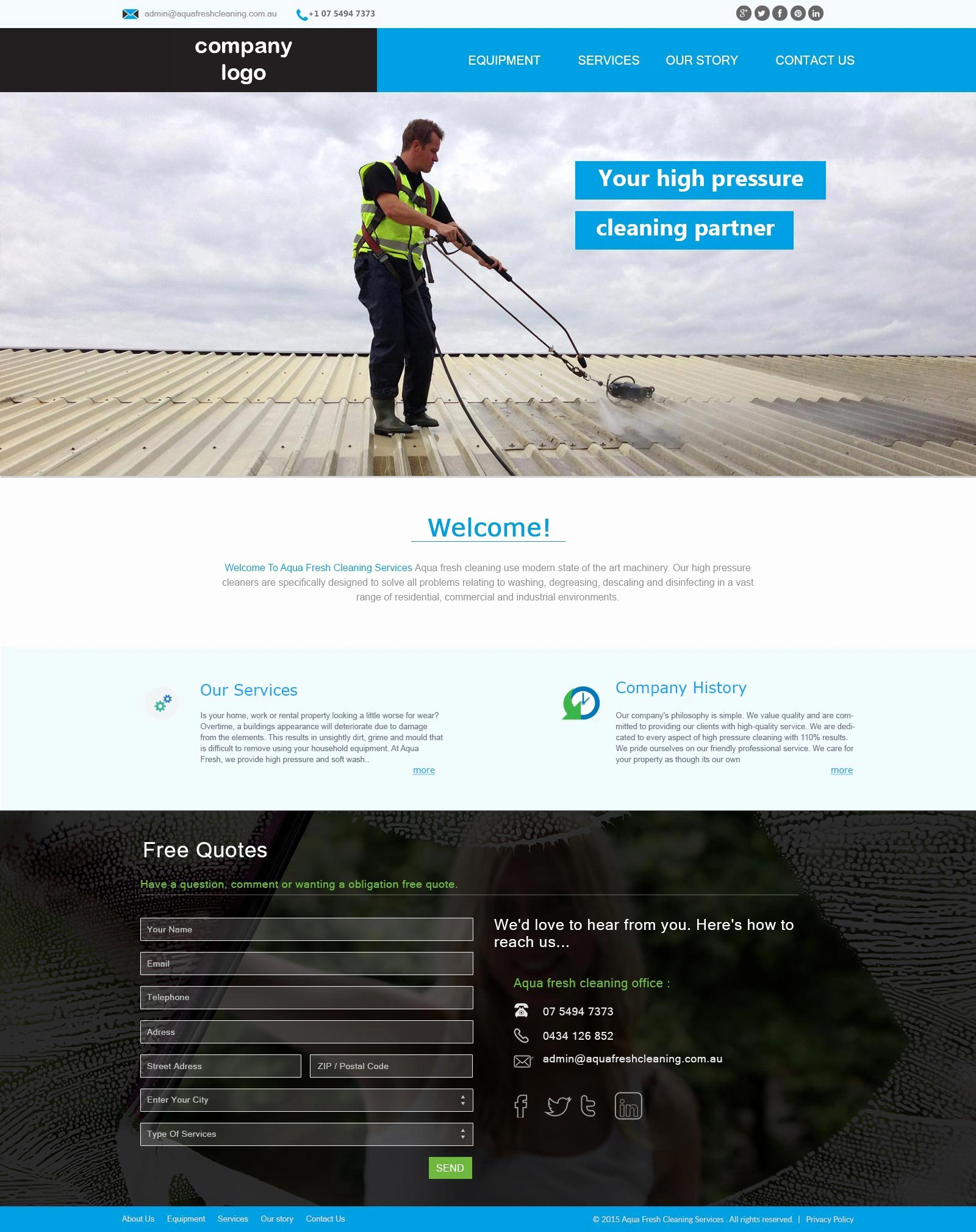 Cleaning Company Website Template Unique Cleaning Pany Website Template