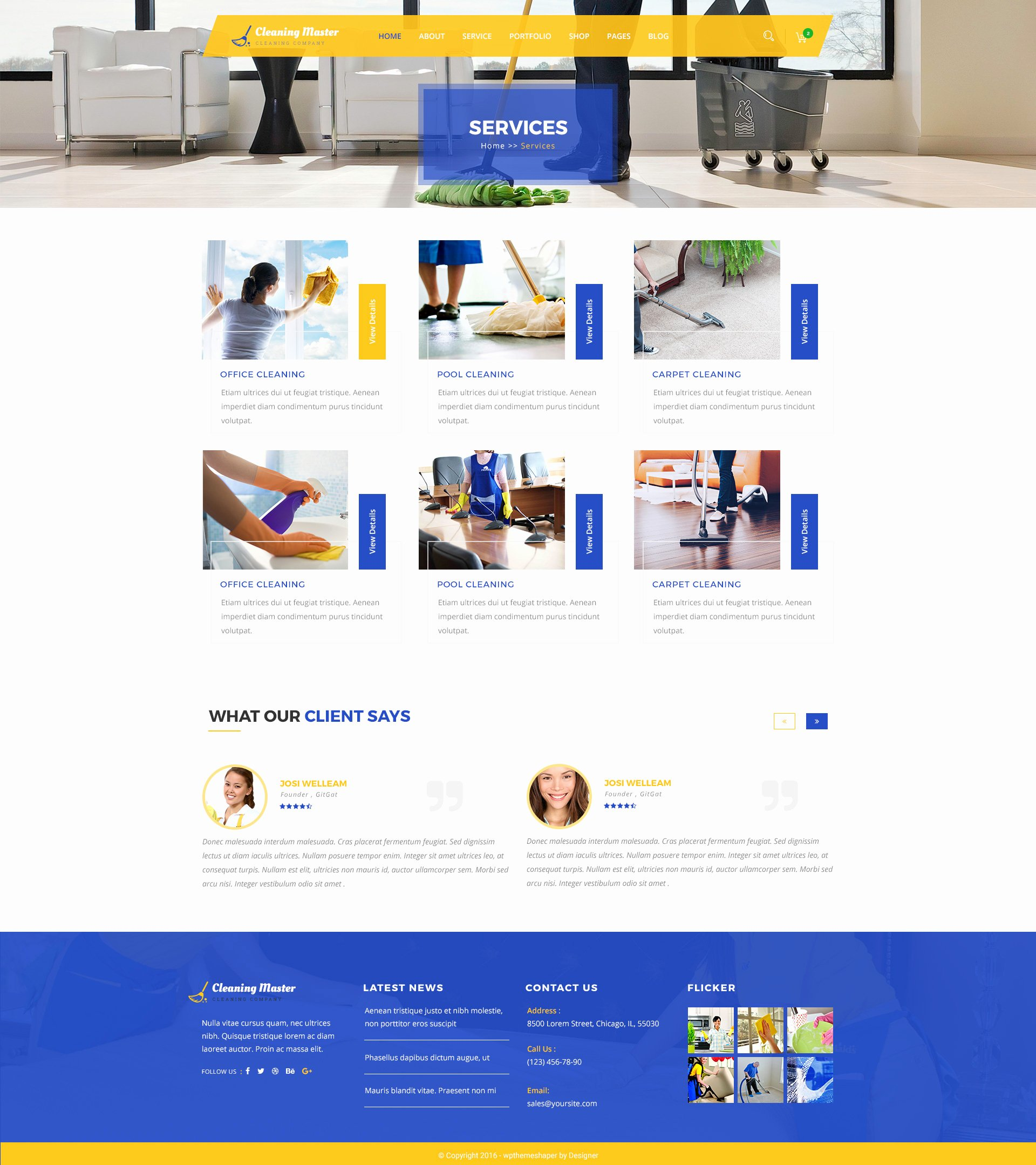 Cleaning Company Website Template Unique Clening Master Cleaning Pany Psd Template by