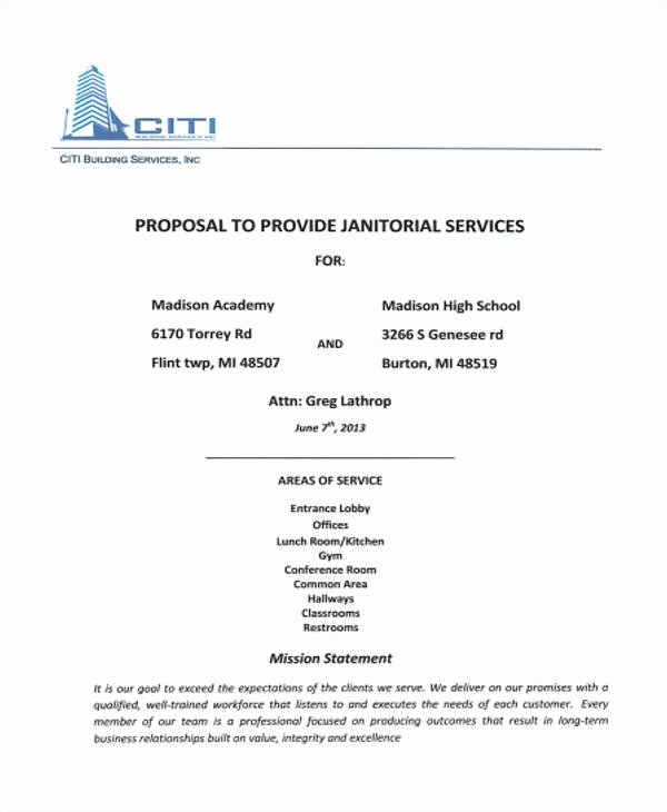 Cleaning Proposal Template Pdf Best Of 12 Cleaning Proposal Templates – Free Documents In Word