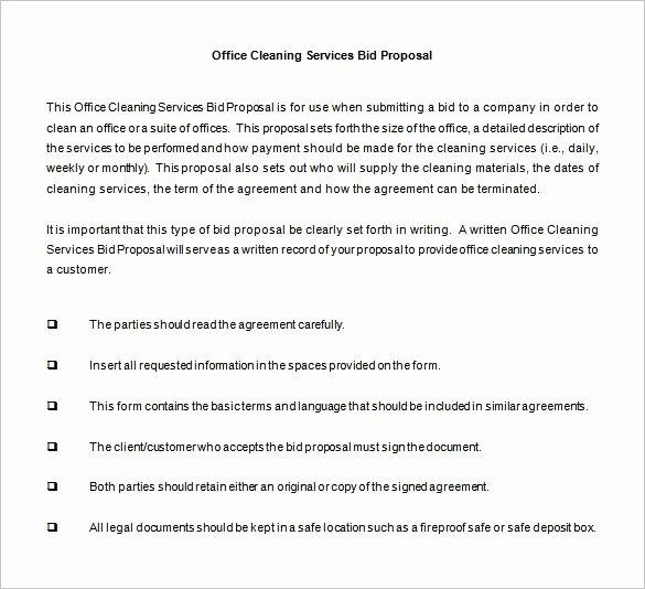 Cleaning Proposal Template Pdf Elegant Bid Proposal Templates 15 Free Sample Example format