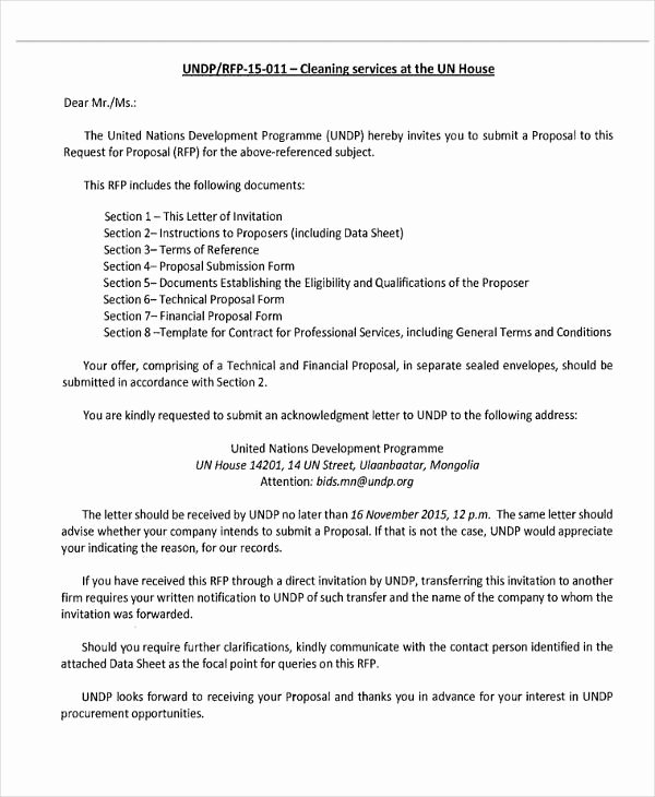 Cleaning Proposal Template Pdf Lovely Proposal Letter for Janitorial Services