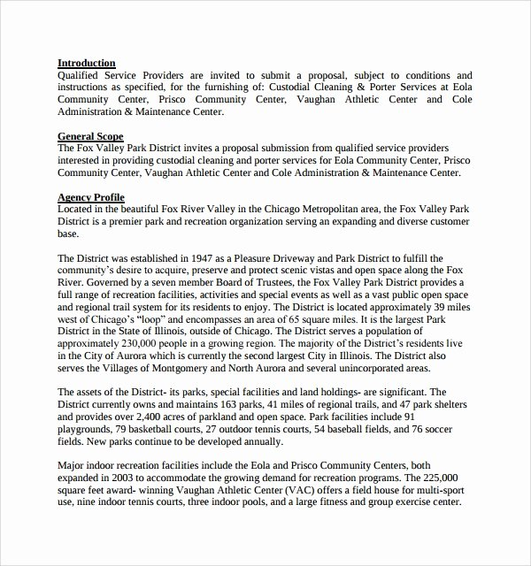 Cleaning Proposal Template Pdf New Sample Cleaning Proposal Template 9 Free Documents In Pdf