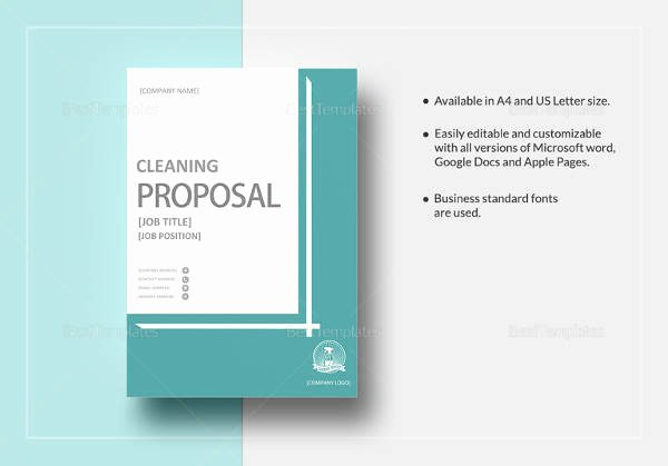 Cleaning Proposal Template Pdf Unique 13 Cleaning Proposal Templates – Pdf Word Apple Pages