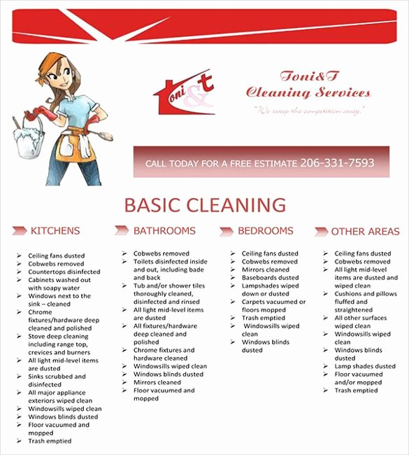 Cleaning Service Checklist Template Beautiful Cleaning Service Flyer Template