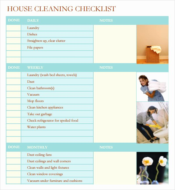 Cleaning Service Checklist Template Best Of 7 House Cleaning Checklist Templates – Pdf Doc