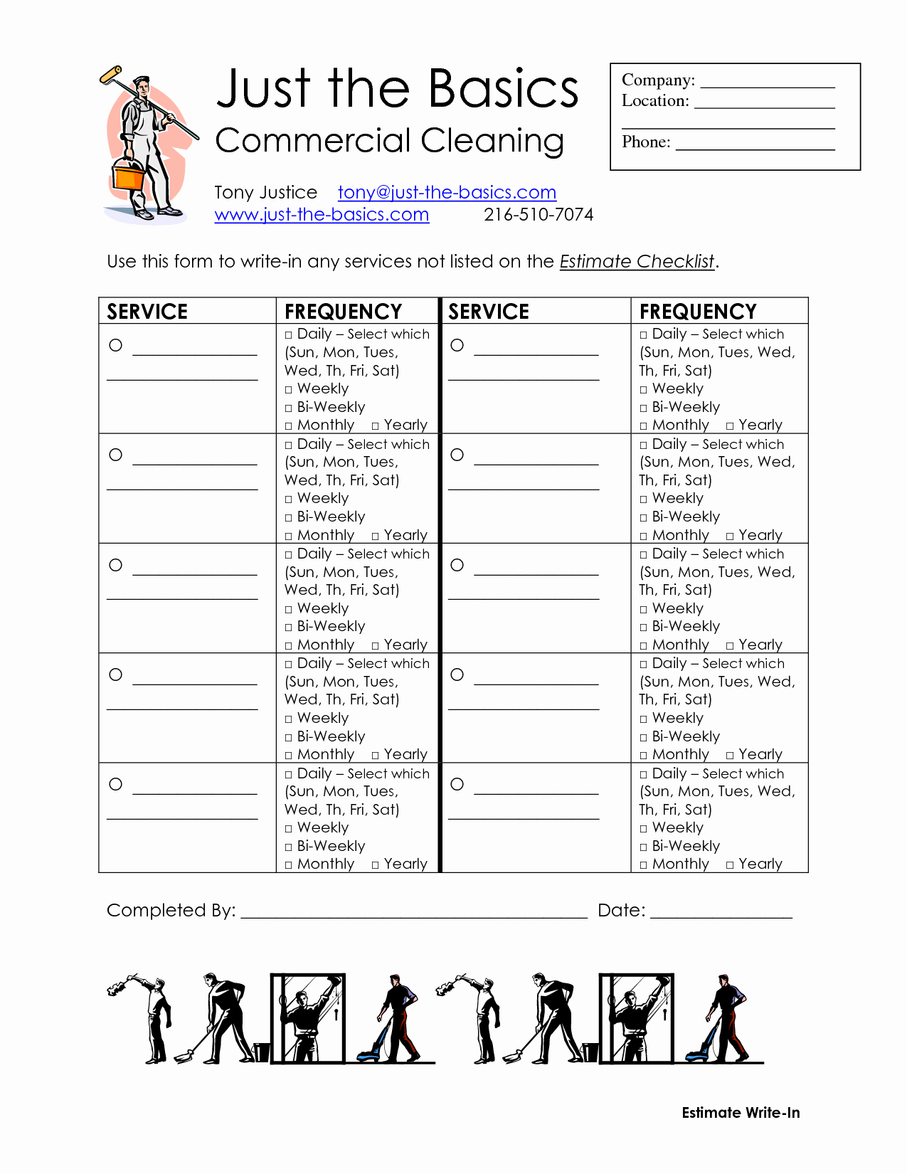 Cleaning Service Checklist Template Best Of 9 Best Of Maid Service Checklist Printable House