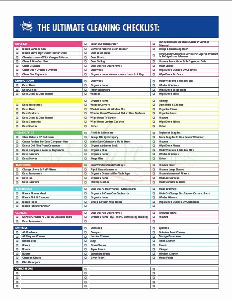 Cleaning Service Checklist Template Unique 1000 Ideas About House Cleaning Checklist On Pinterest