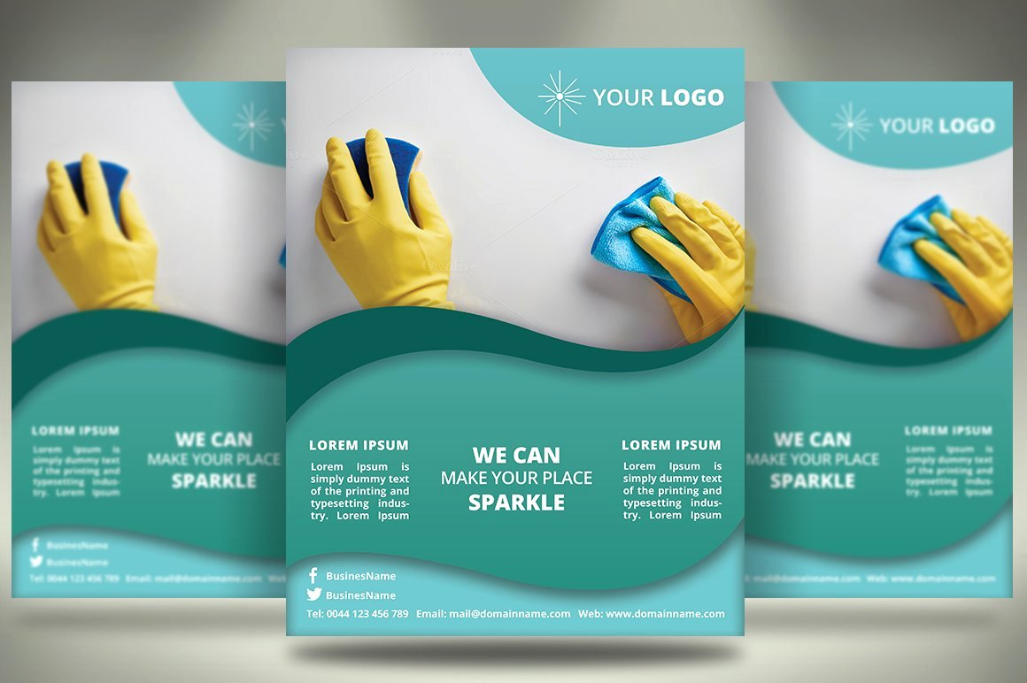 Cleaning Service Flyer Template Awesome Cleaning Services Flyer Sk Flyer Templates Creative