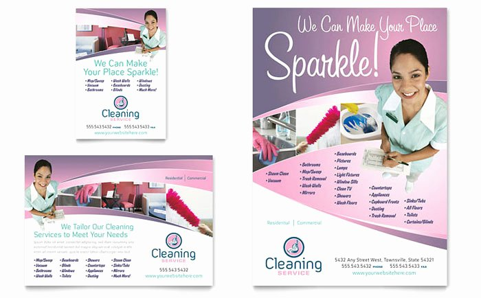 Cleaning Service Flyer Template Awesome House Cleaning & Maid Services Flyer & Ad Template Design
