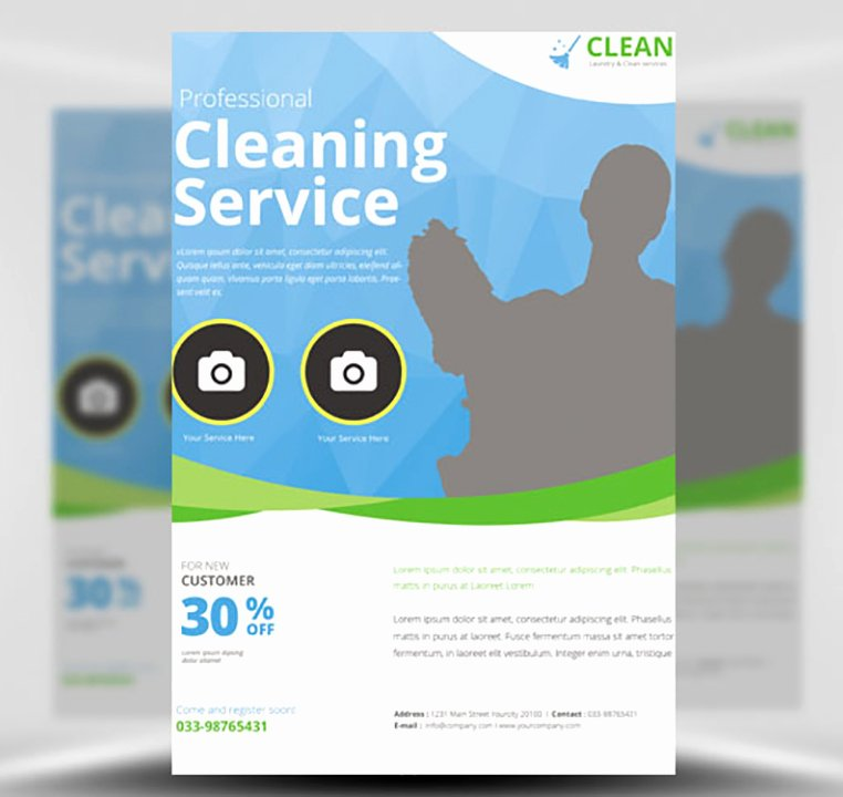 Cleaning Service Flyer Template Fresh Cleaning Service Flyer Template Flyerheroes