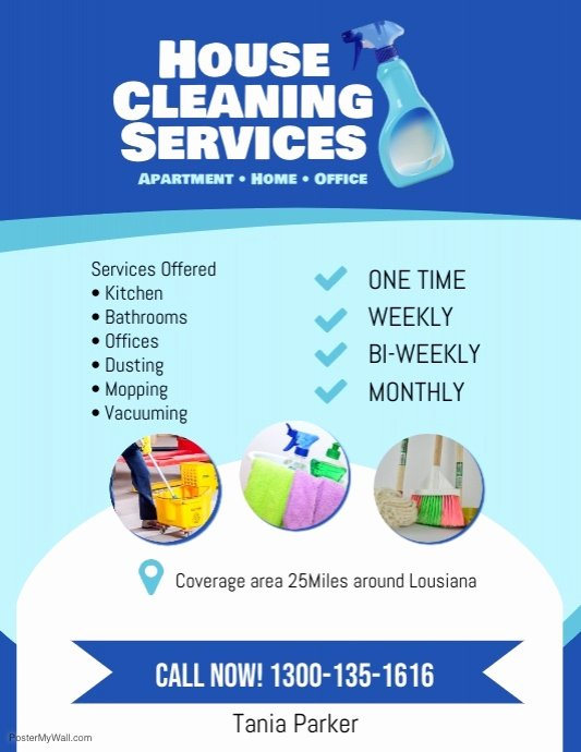 Cleaning Service Flyer Template Fresh House Cleaning Services Flyer Poster Template