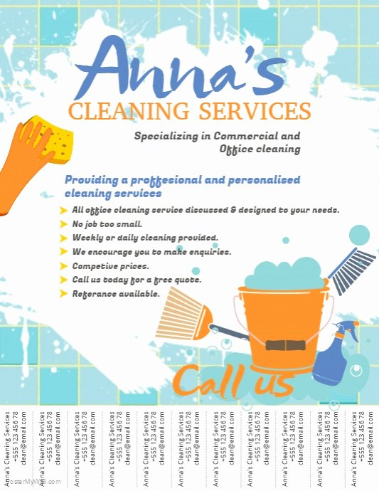 Cleaning Service Flyer Template Inspirational Cleaning Service Flyer Template