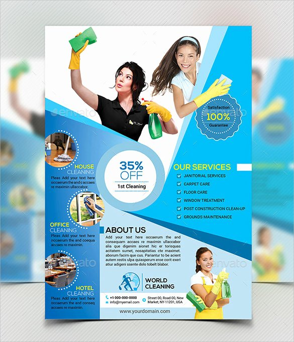 Cleaning Service Flyer Template Lovely 10 House Cleaning Flyer Templates to Download