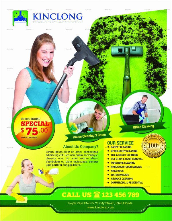 Cleaning Service Flyer Template Lovely 28 Cleaning Service Flyer Designs & Templates Psd Ai