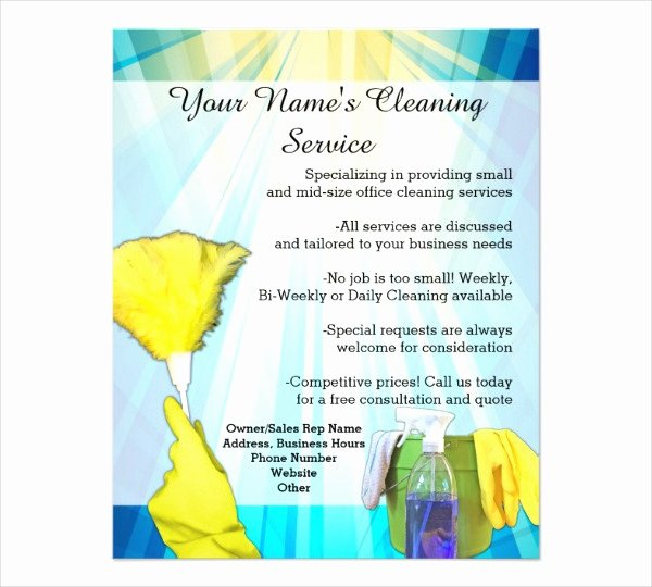 Cleaning Service Flyer Template Luxury 47 Printable Flyer Templates Psd Ai