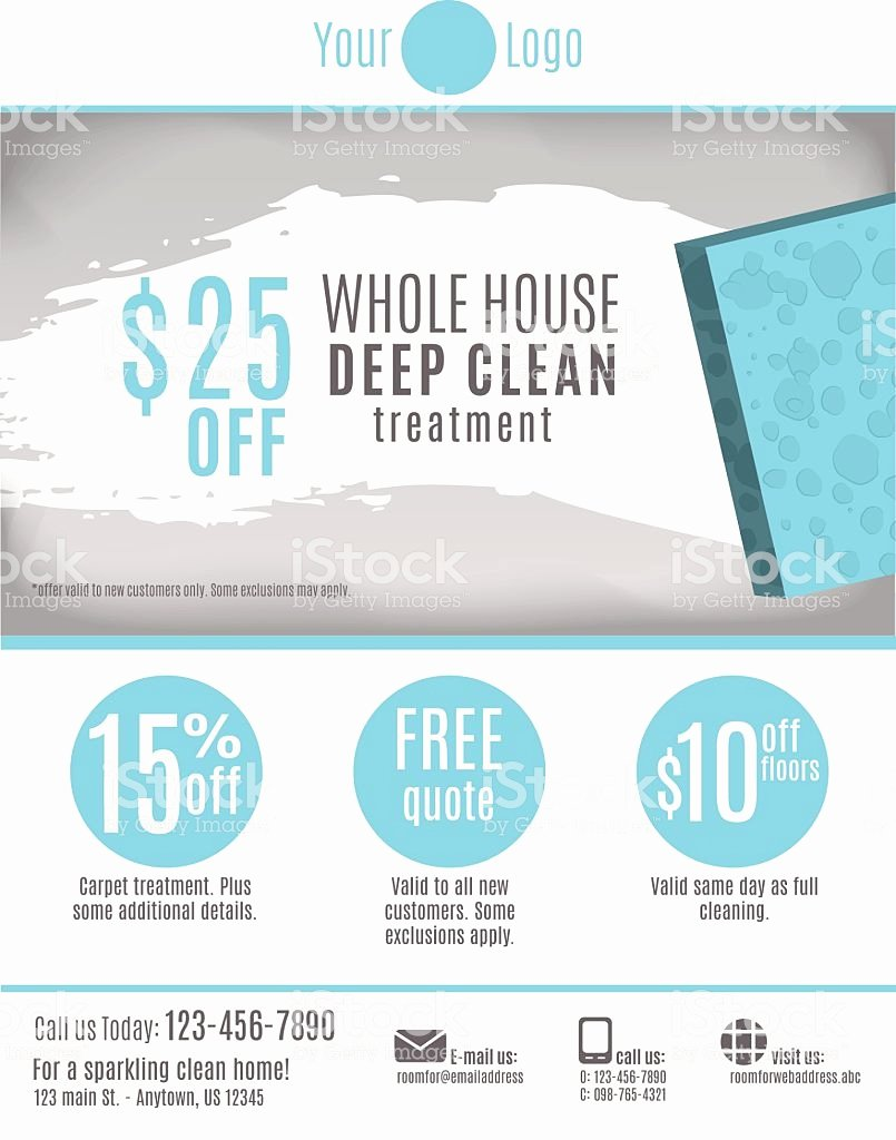 Cleaning Service Flyer Template Luxury Cleaning Service Flyer Template Stock Vector Art & More