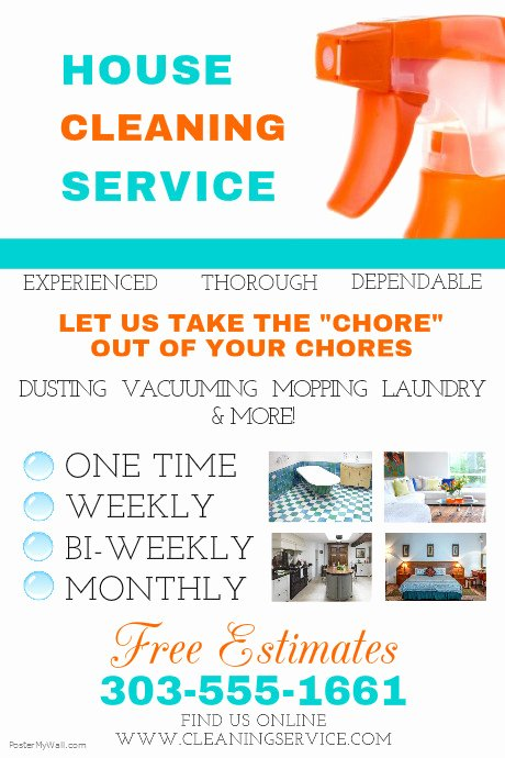 Cleaning Service Flyer Template Luxury House Cleaning Service Template
