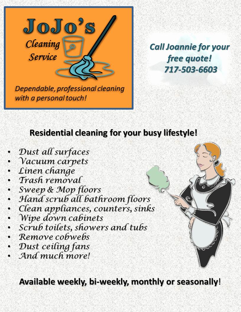 Cleaning Service Flyer Template Luxury Jojo S Cleaning Service Flyer
