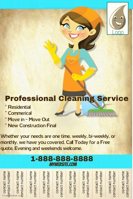 Cleaning Service Flyer Template Luxury Professional Cleaning Service Flyer Template