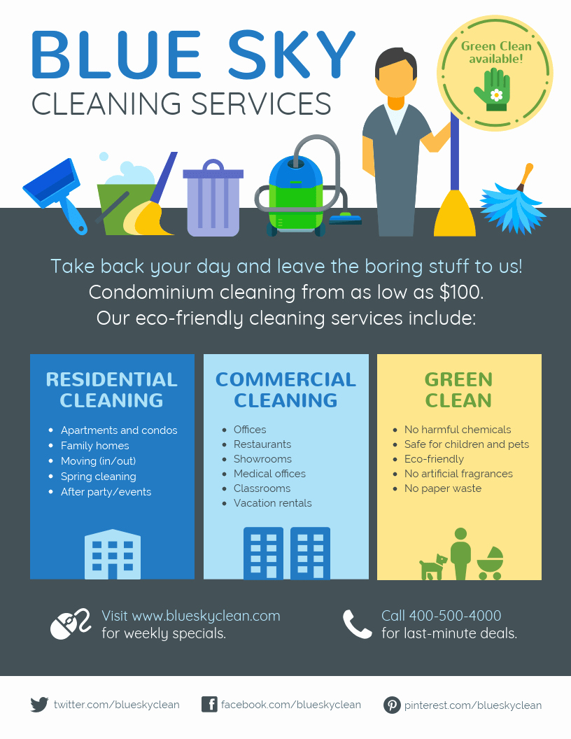Cleaning Service Flyer Template New Cleaning Service Flyer Template Venngage