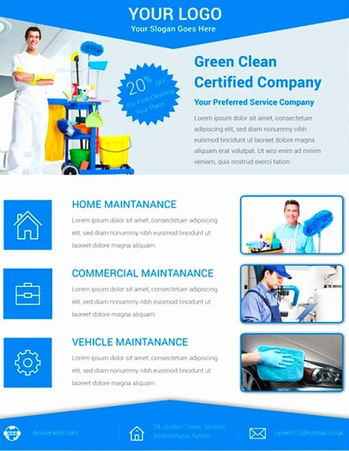Cleaning Service Flyer Template New Download Free Cleaning Service Flyer Psd Template for