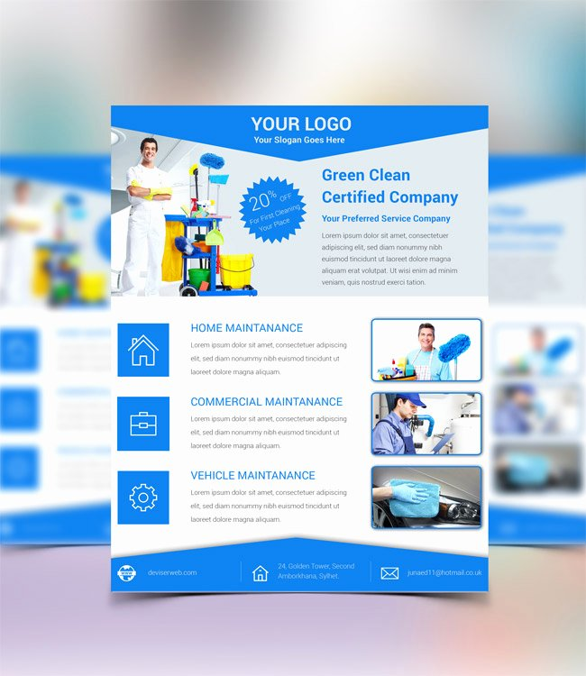 Cleaning Service Template Free Awesome Free Cleaning Service Psd Flyer Template