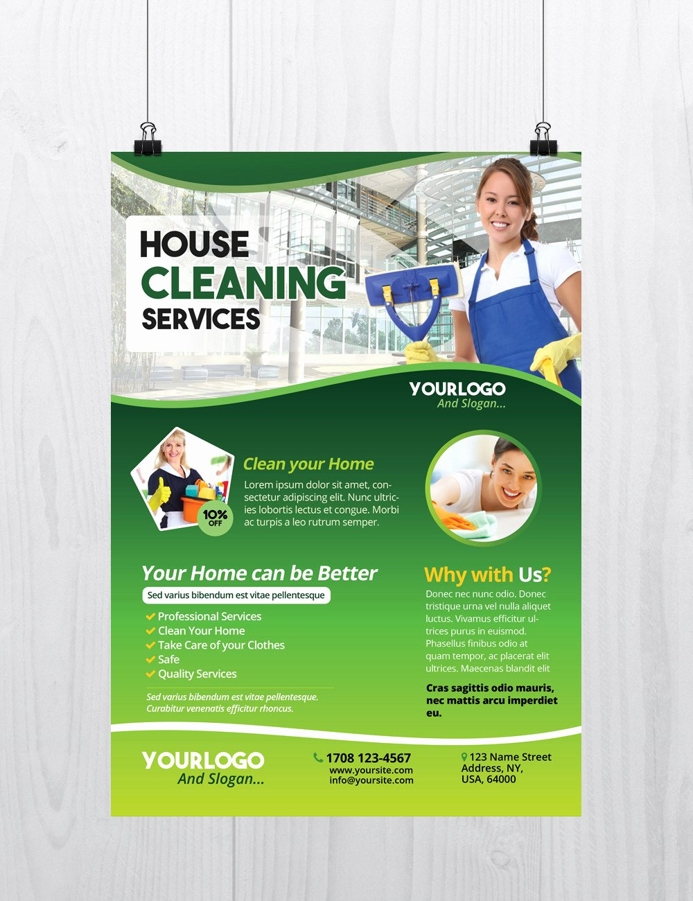Cleaning Service Template Free Elegant Cleaning Services Download Free Psd Flyer Template