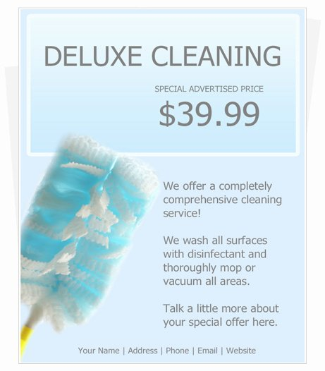 Cleaning Service Template Free Unique House Cleaning Services Flyer Templates