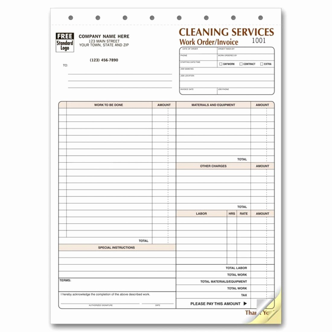 Cleaning Services Invoice Template Beautiful Cleaning Service Invoice forms