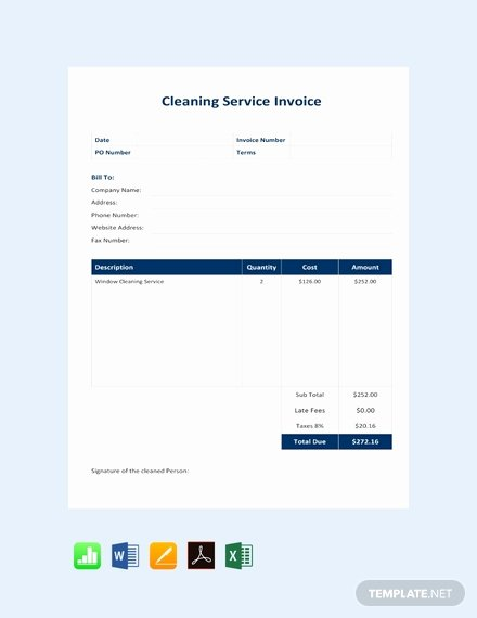 Cleaning Services Invoice Template Best Of Free Business Service Invoice Template Download 147