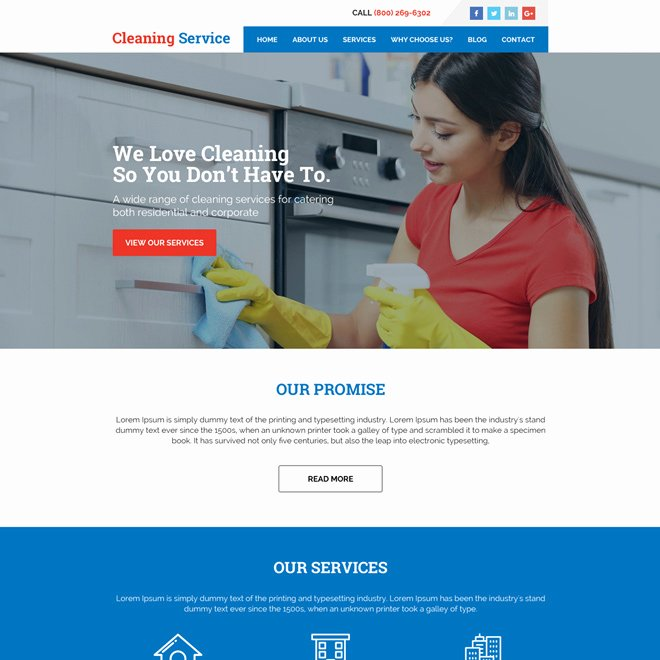 Cleaning Services Website Template Awesome Effective Cleaning Services Website Template to